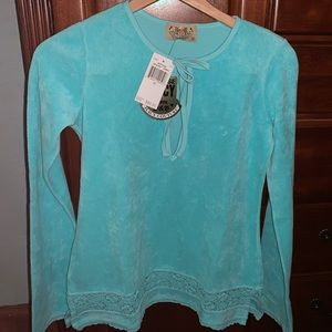 Brand New Teal Aqua Juicy Couture Terry Tunic
